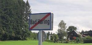 Ortschild Ende Bad Häring
